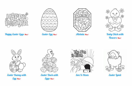 ABF Easter coloring pages