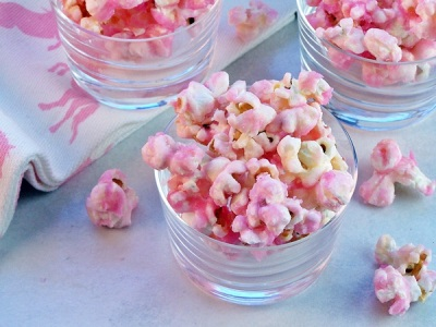 miss america party food pink popcorn