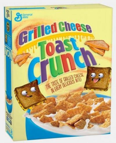 Cereal for lunch? Try Grilled Cheese Toast Crunch. April Fools'!