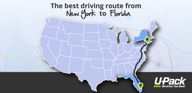 what s the best driving route from new york to florida u pack. Black Bedroom Furniture Sets. Home Design Ideas