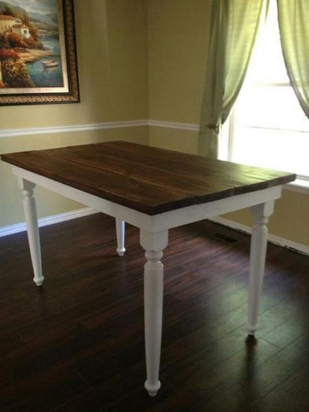 Make your own farm table on a budget