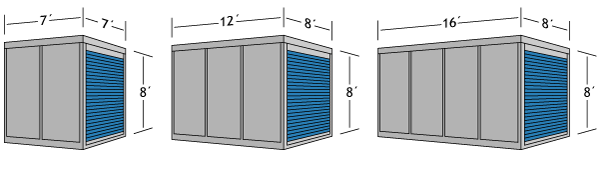 PODS<sup>®</sup> container sizes compared to U-Pack