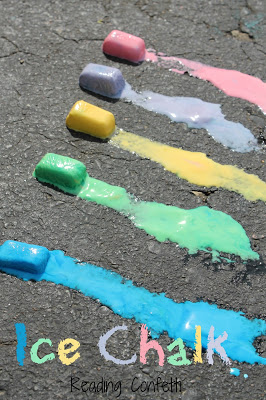 Ice chalk is perfect for outdoor fun on a warm day.