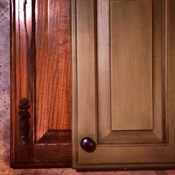Rust-Oleum Cabinet Transformation<sup>®</sup> before and after