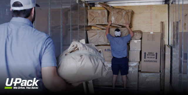 Hiring Movers hiring movers to load a truck | u-pack
