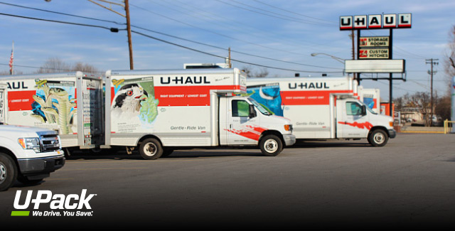 U Haul Rental With Car Trailer