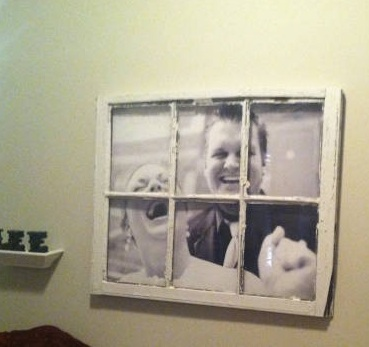 Picture in a window pane