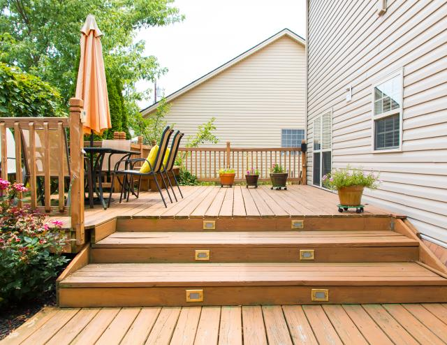 a wood deck upgrade can help sell a home