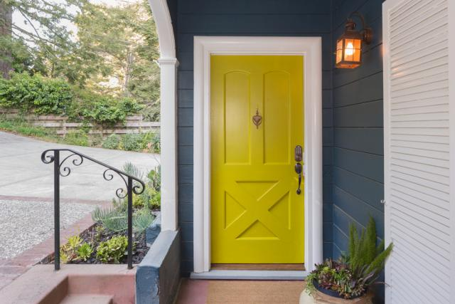 Yellow Front Door Curb Appeal Ideas