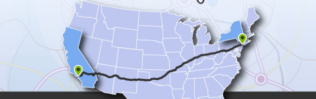 What is the best driving route from California to New York?
