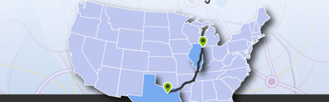 What is the best driving route from Dallas to Chicago?