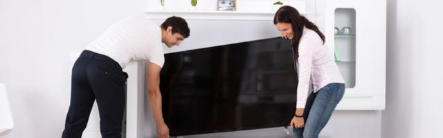 Moving a large screen TV